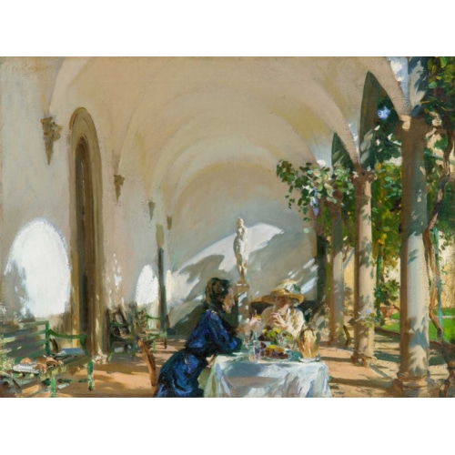 Breakfast in the Loggia 인물 그림 포스터