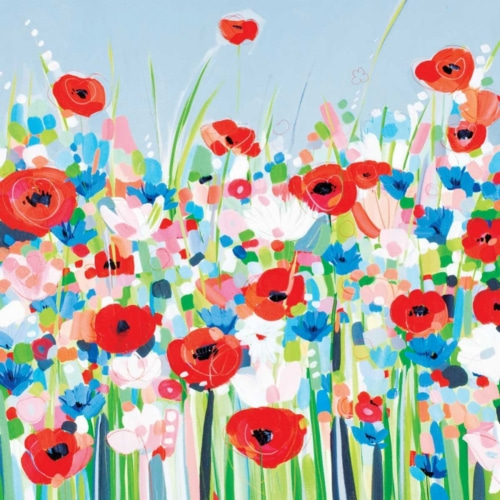 Cornflowers and Poppies - Bell, Janet 포스터
