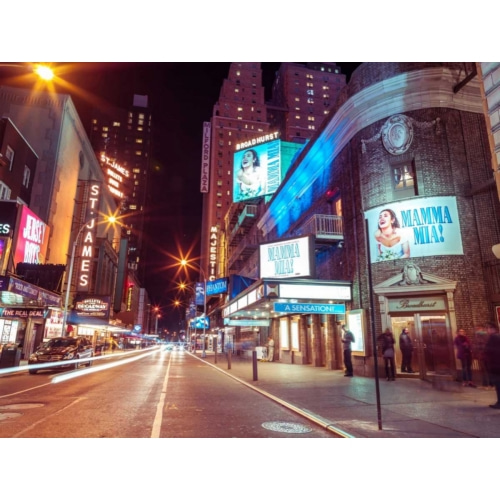Frank, Assaf의 Times square and Broadway at night - New York City