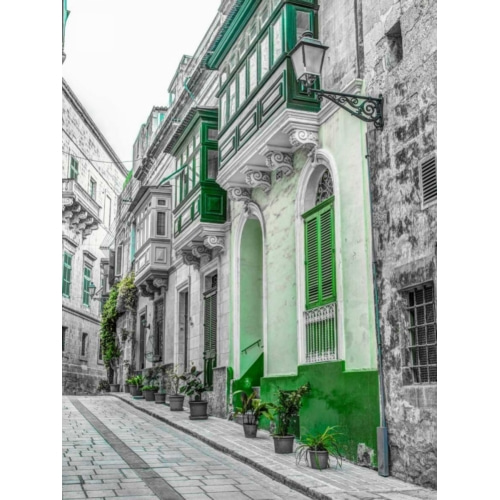 Traditional maltese houses in... 빈티지 사진 포스터