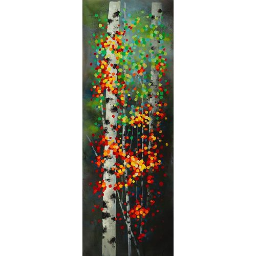 Atelier B Art Studio의 COLORFUL DOTTED LEAVES BIRCHES